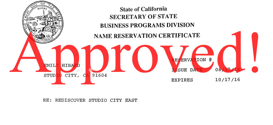"Photo of ""Rediscover Studio City East"" was approved!"