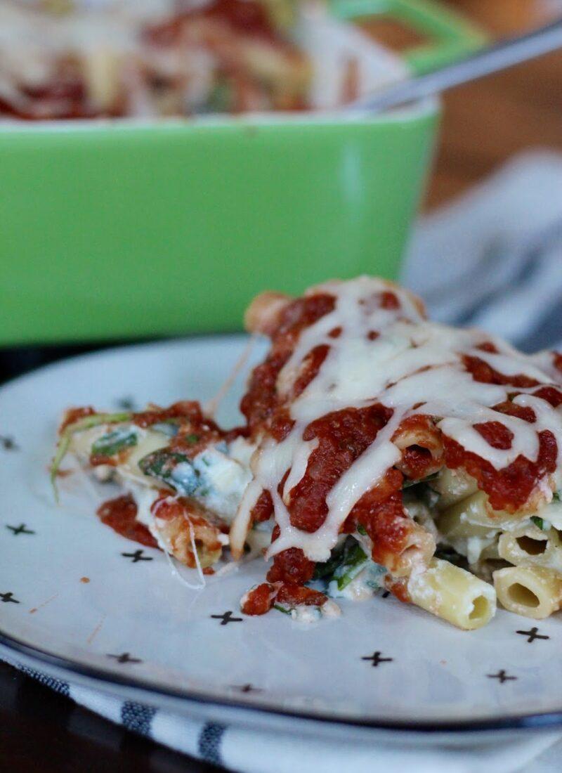 Spinach Ricotta Pasta Bake
