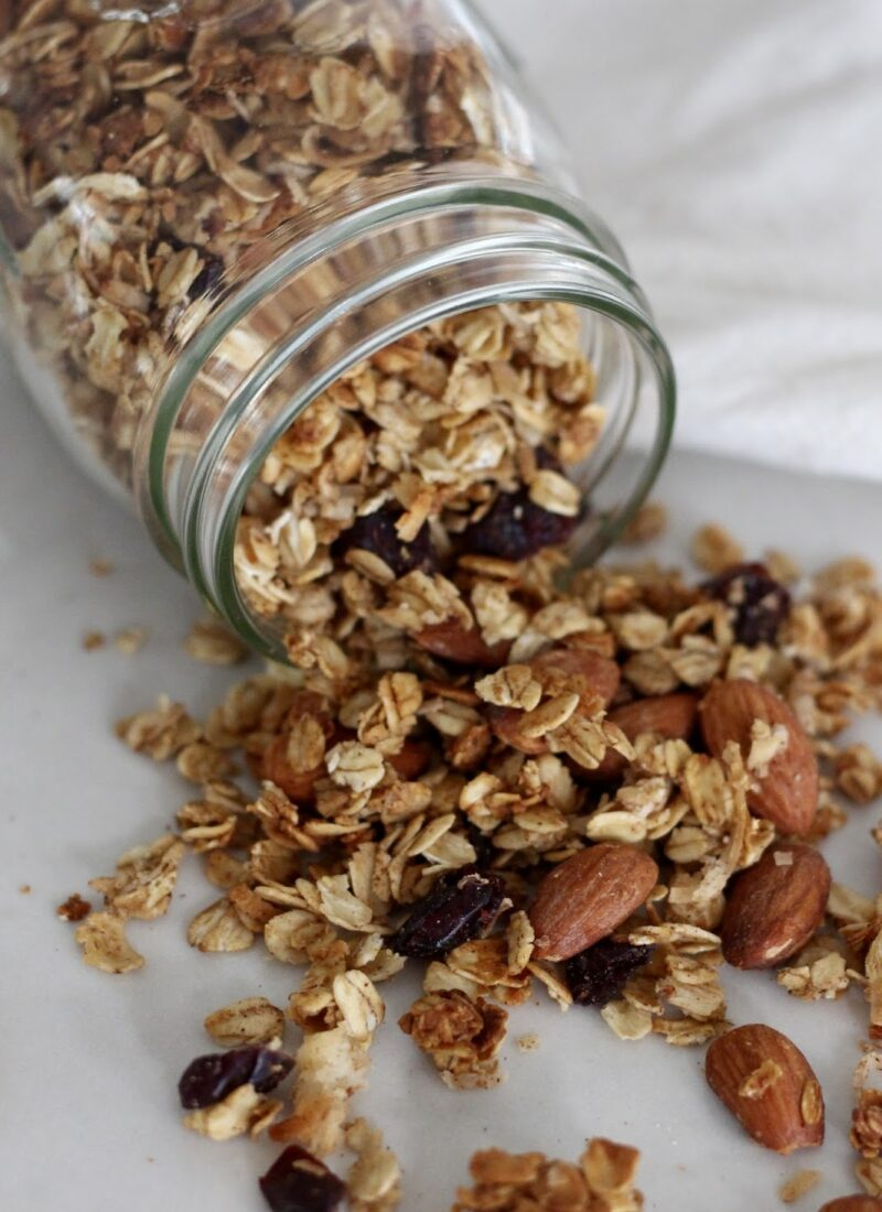 Easy Homemade Coconut Almond Cranberry Granola