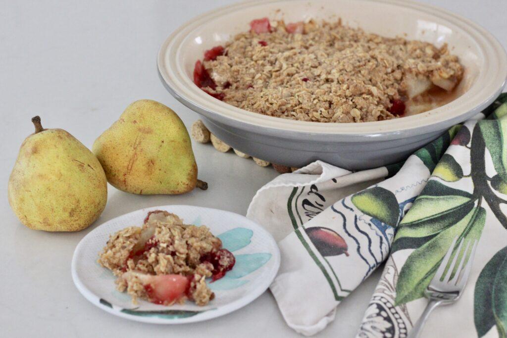 Gluten-Free Cranapple & Pear Crumble