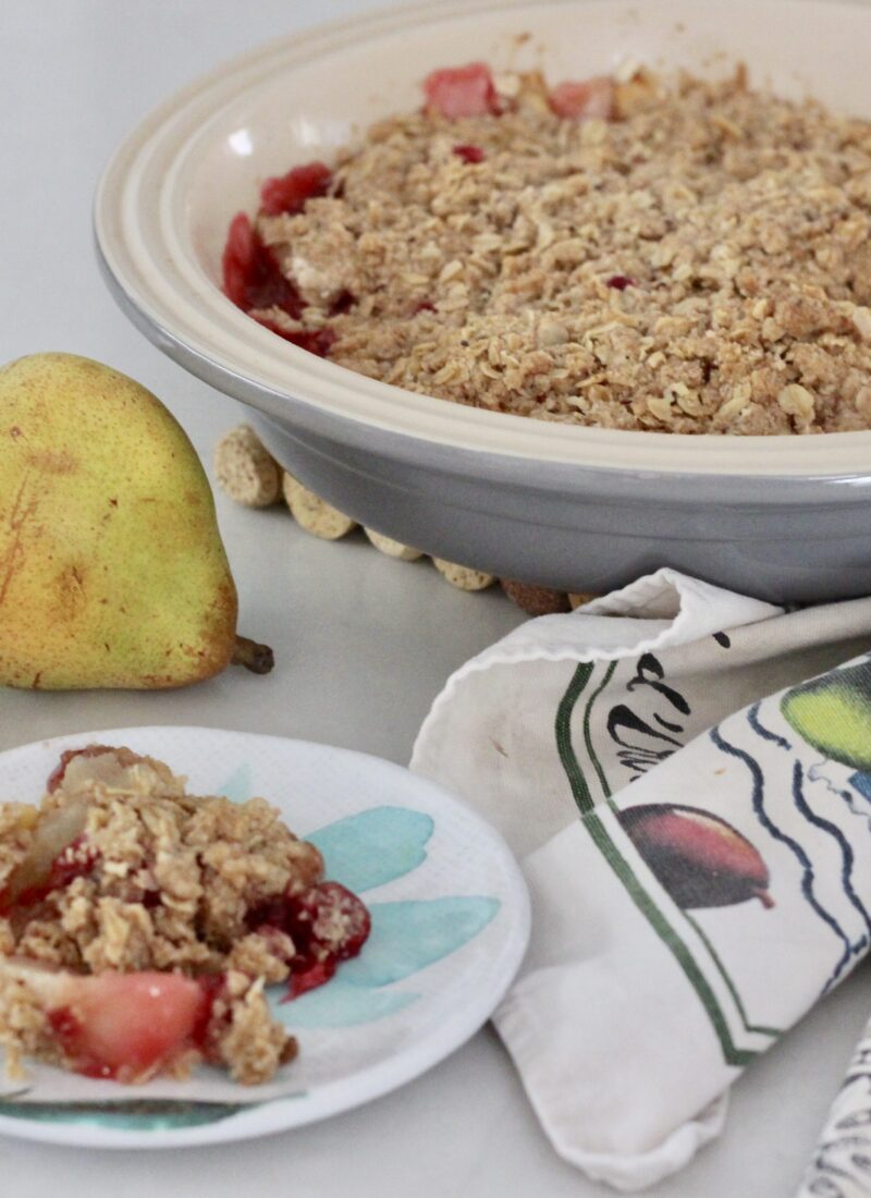 Gluten-Free Cranberry, Apple & Pear Crumble