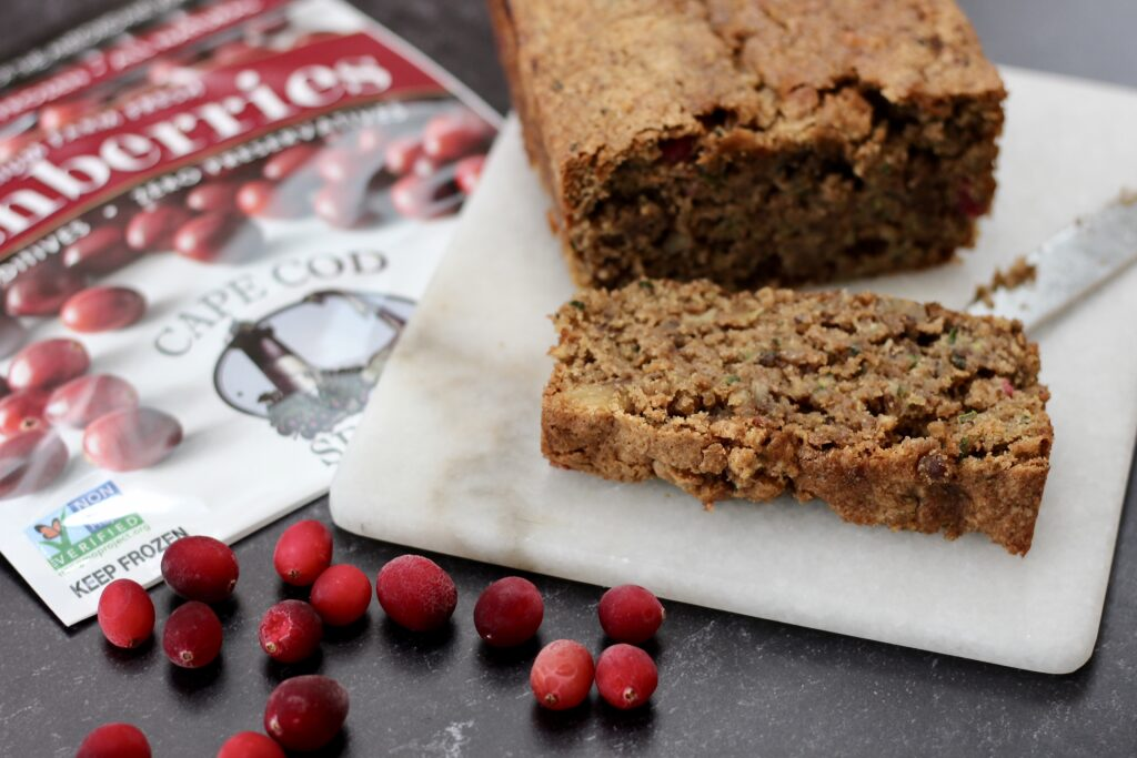 Zucchini Cranberry Nut Bread