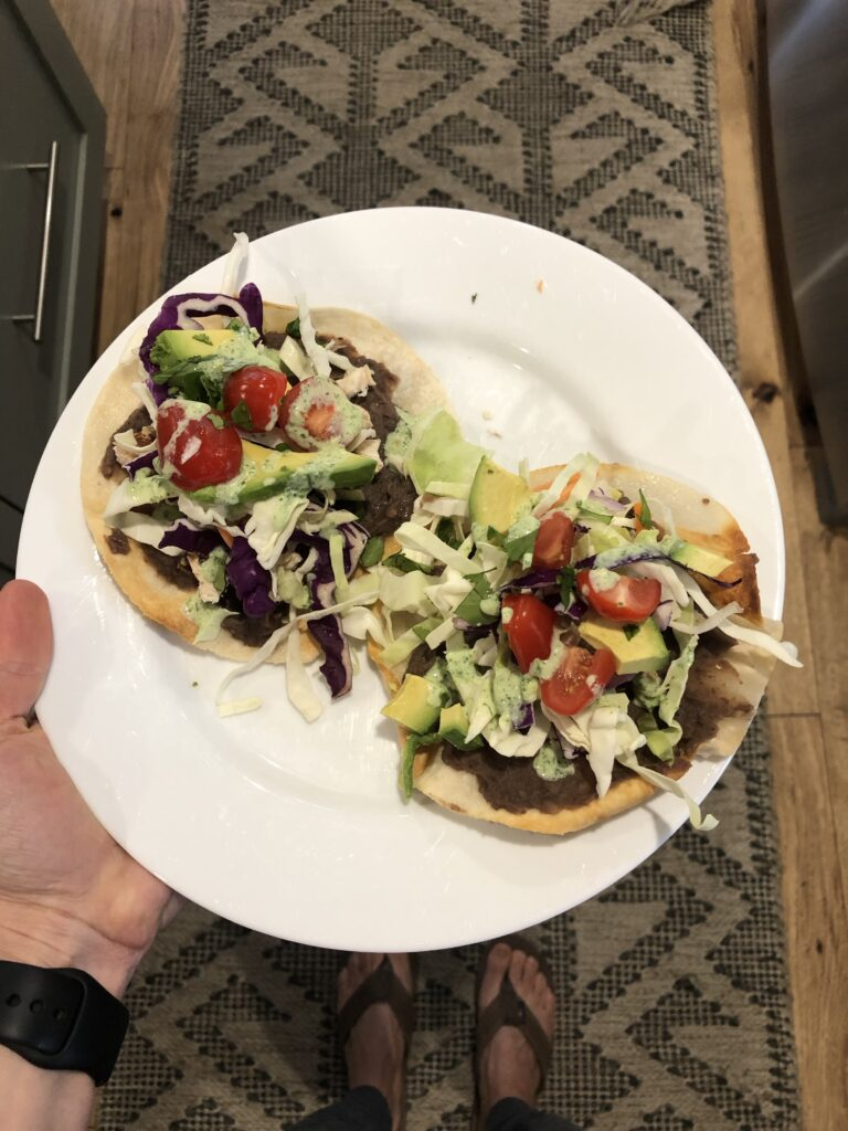 Easy Chicken Tostadas