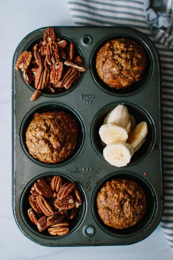 Easy Oatmeal Banana Nut Muffins