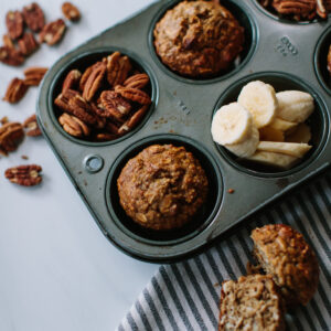 Oatmeal Banana Nut Muffins