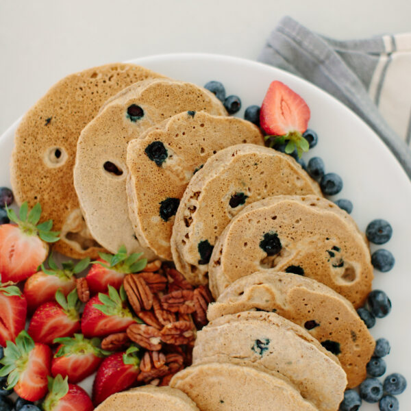 The Best Blueberry Protein Pancakes