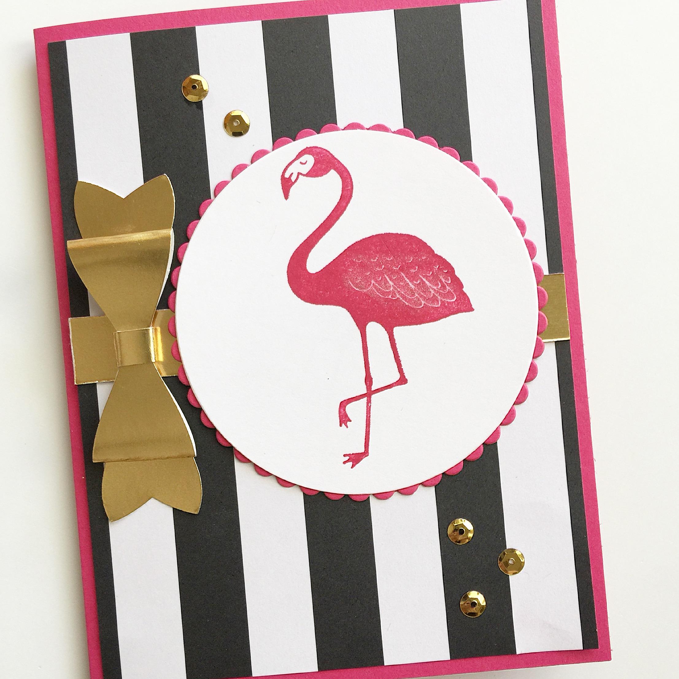 fun flamingo card subscription greeting cards