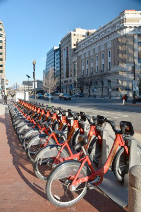 Downtown Washington DC Bikes