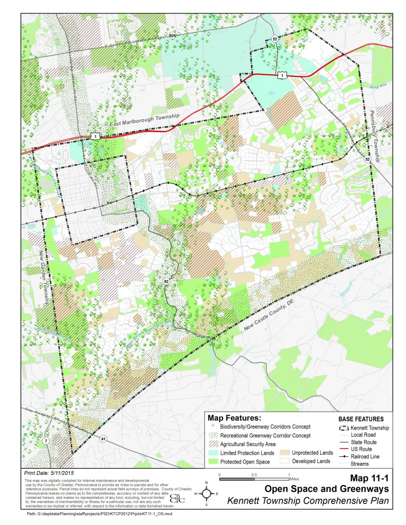 Kennett Township PA Open Space Map