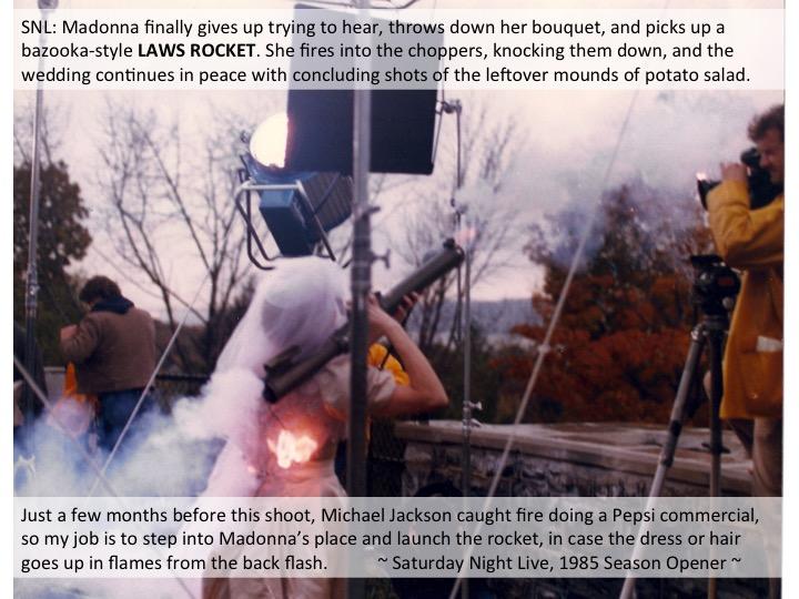 Lisa Loving Dalton stunt doubles Madonna for the Saturday Night Live 1985 Season Opener