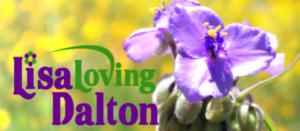 Lisa Loving Dalton signature logo in purple, green and gold