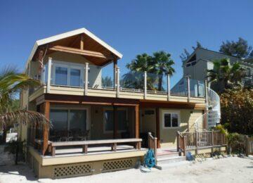 Beach house renovation rear exterior