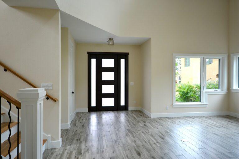 Craftsman style new home interior