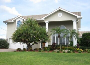 Front elevation nice landscaping