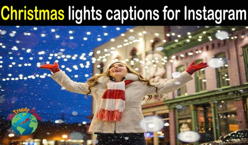 Christmas lights captions for Instagram
