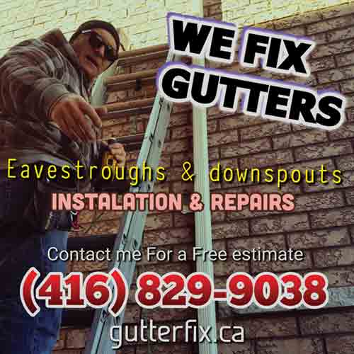 gutter Cleaning in uptown Toronto, Richmond Hill