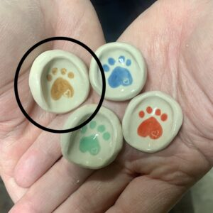Brown Paw Love Prayer Thumbprint