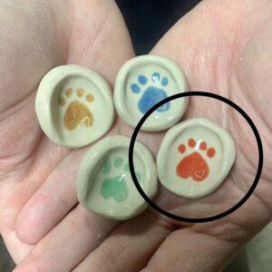 Red Paw Love Prayer Thumbprint