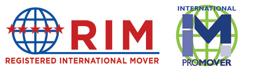 Registered international mover logo