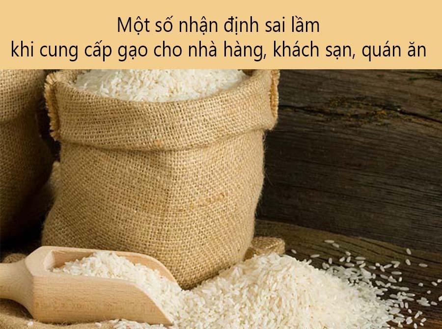 Một số nhận định sai khi cung cấp gạo cho nhà hàng khách sạn quán ăn