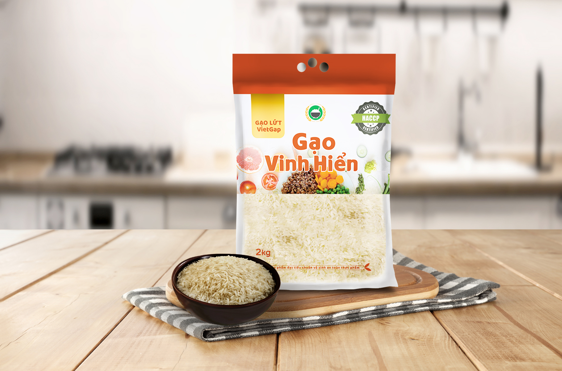 sản xuất gạo lứt VietGAP