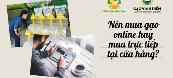 mua gạo online và offine