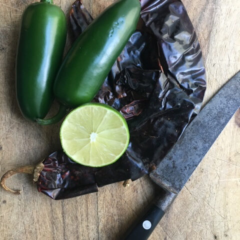 jalapeno with knife