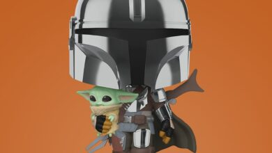 Photo of 10″ Chrome Mandalorian With Child Funko POP! Announced