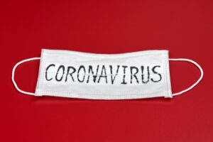 Medical Mask with the word coronavirus