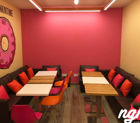 popular painting dunkin donuts client