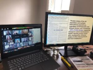 An image depicting the virtual fall meeting for the Soy Nutrition Institute