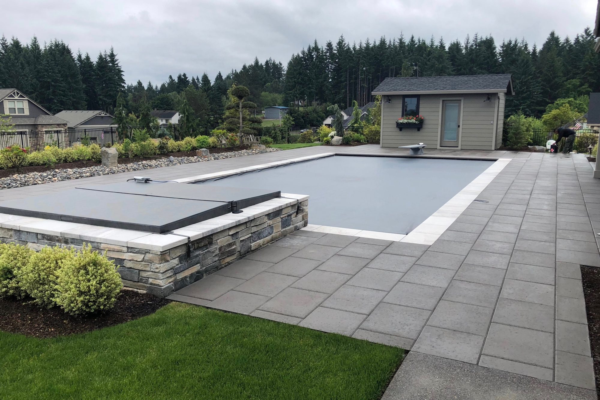 Backyard paver