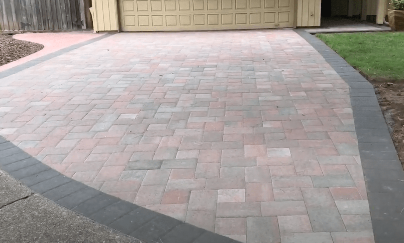 driveway paver project