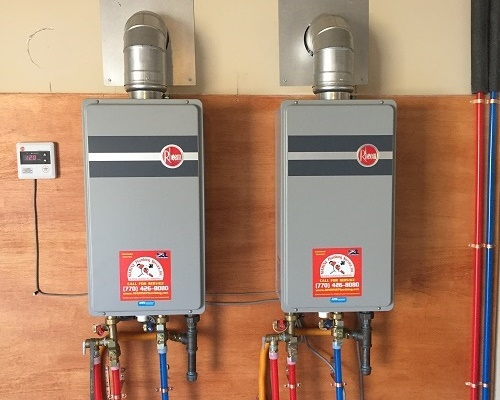 Tankless water heater service