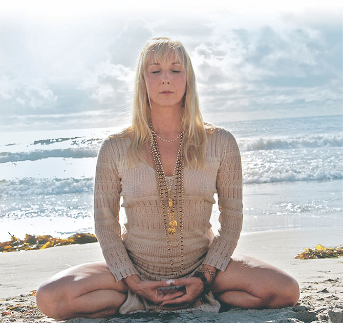 Clair Diab Meditating