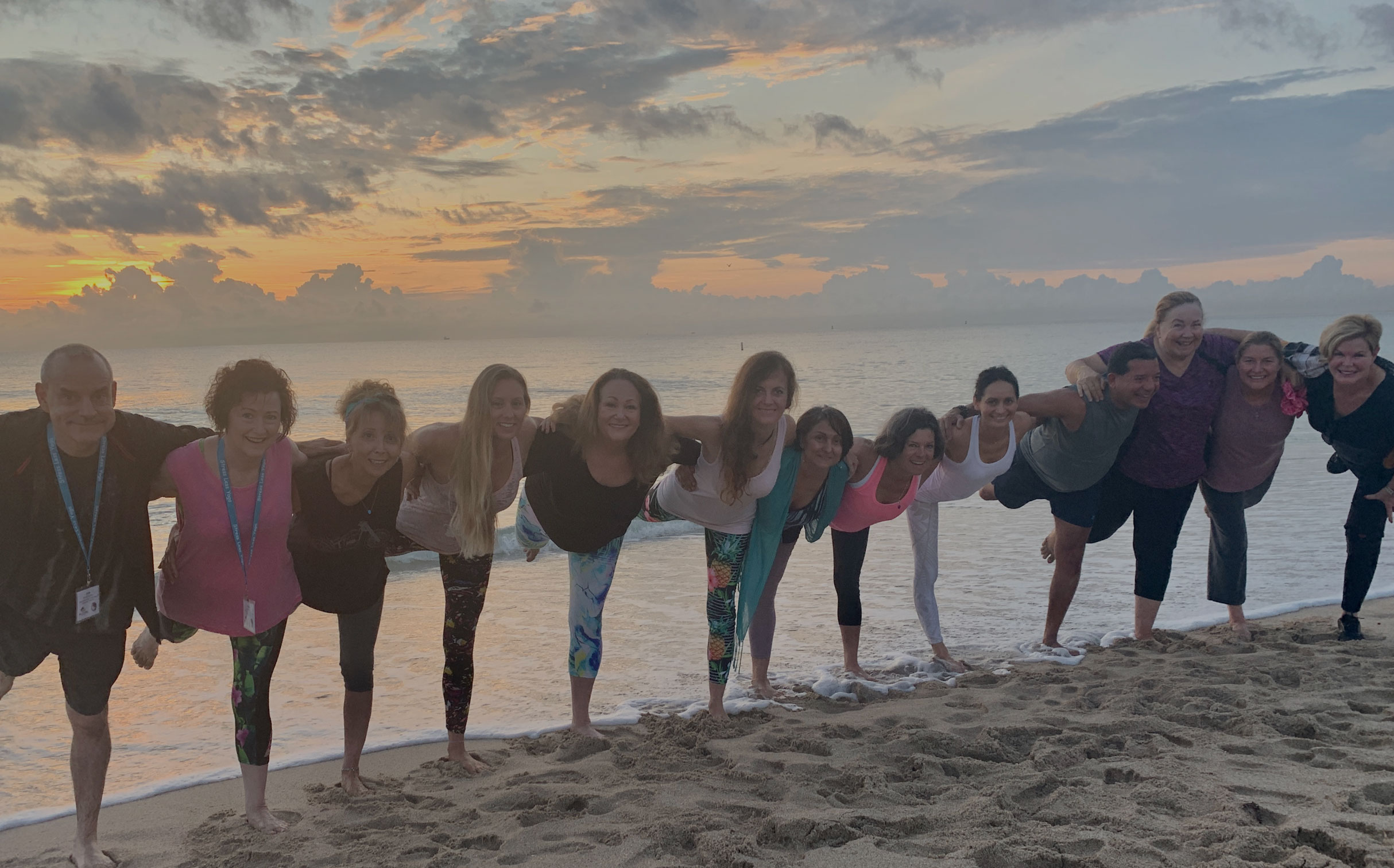 13 people that attended the Mind Spirt Body Retreat in October