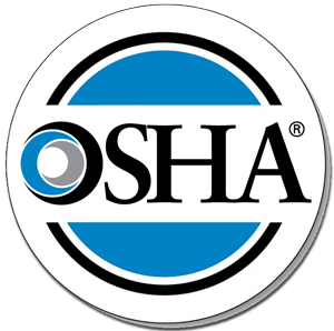 OSHA seal. Nuway complies with all OSHA rules
