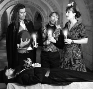 The Invincible Czars BACK – Jaguar (bass guitar), Josh Robins (guitar, sound effects, percussion), Leila Henley (vocals, flute, bass clarinet, synth, percussion) FRONT – Phil Davidson (violin, keyboard, glockenspiel)