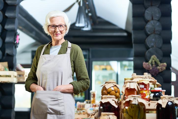 Senior female entrepreneur