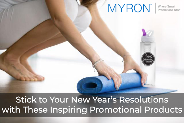 New Year's resolutions promotional products