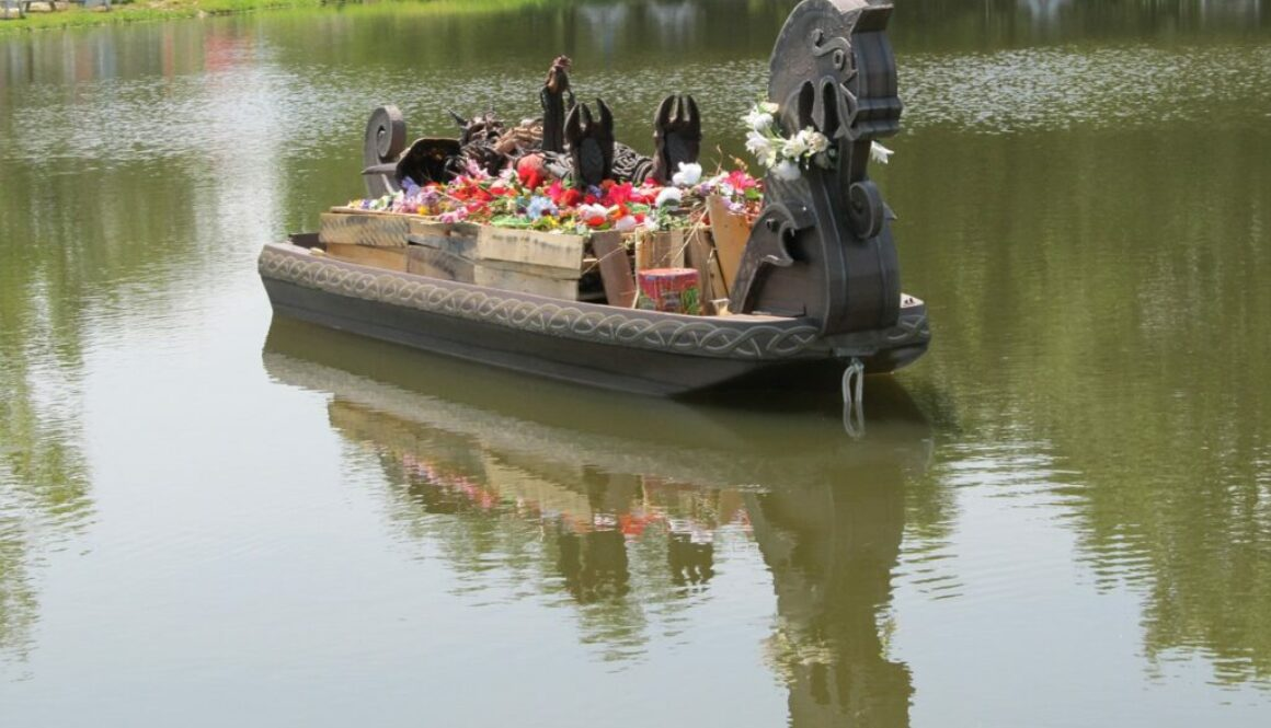 A viking ship funeral, an example of a creative sea burial.