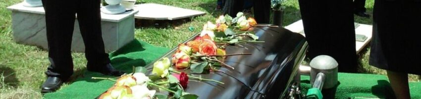 A traditional burial ceremony.