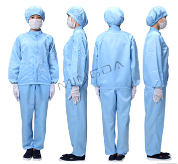 cleanroom esd garment /antistatic overalls worker clothes , factory direct sale ESD Cleanroom Apparel made in China