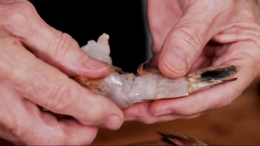 Peeling and Eviscerating Shrimp