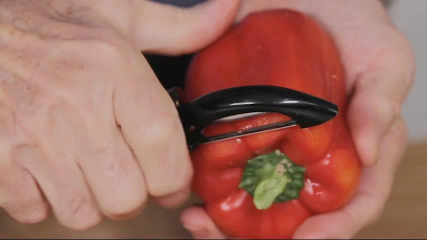 Peeling Peppers