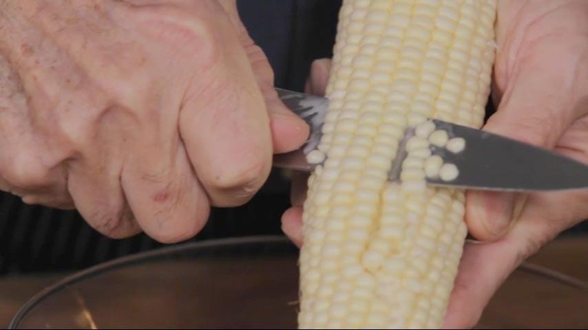 Trimming Corn