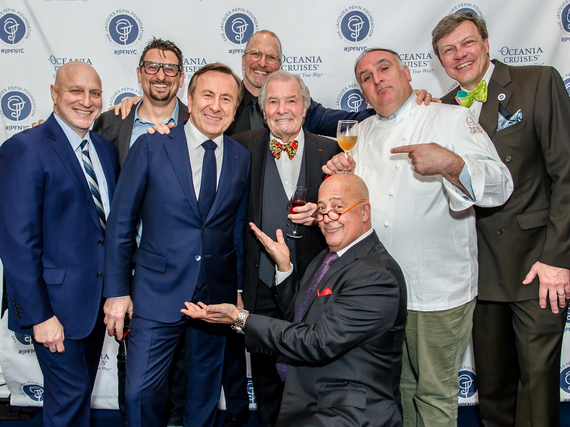 Tom Colicchio, Daniel Boulud, Jacques Pepin, Andrew Zimmern, Jose Andres