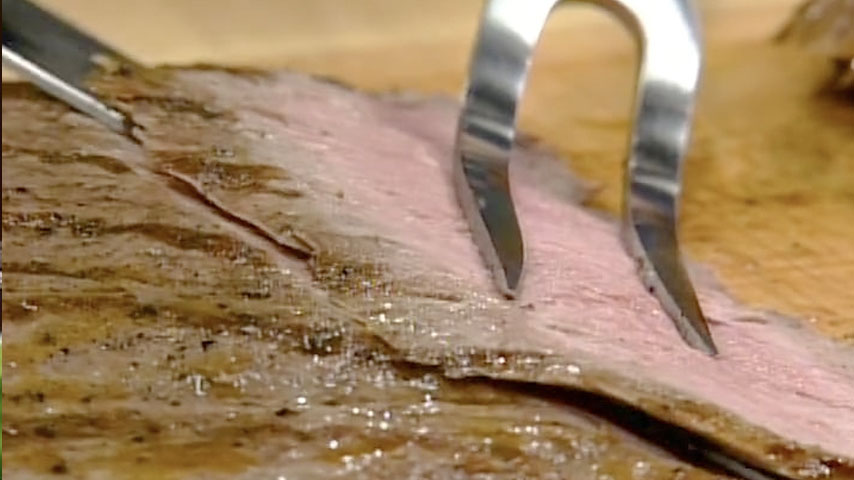 Carving a Flank Steak
