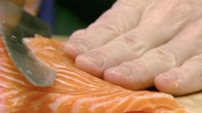 Salmon Gravlax and Salmon Carpaccio