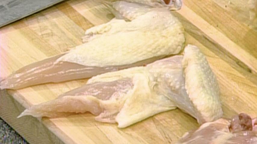 Prepare chicken for sautéing